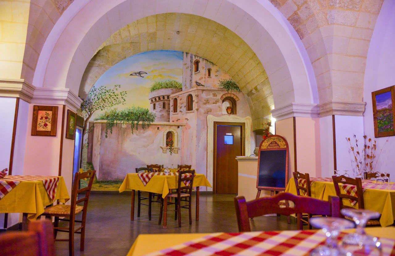 Corte Micali Pizza Restaurant's Interior Hall Fresco in Martano